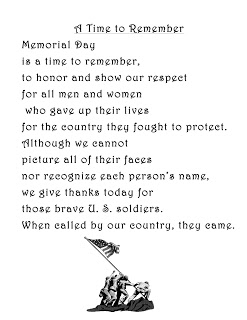 memorial day poems for preschoolers
