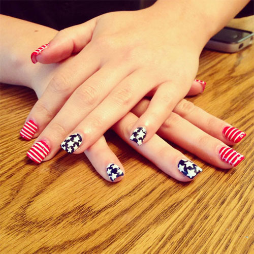 4th of July Nails Design And Art
