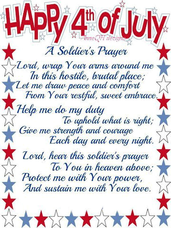 Happy 4th of july prayer
