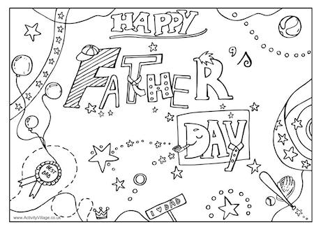 Fathers Day Coloring Pages Free