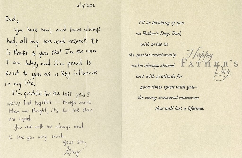 Father's day card sayings