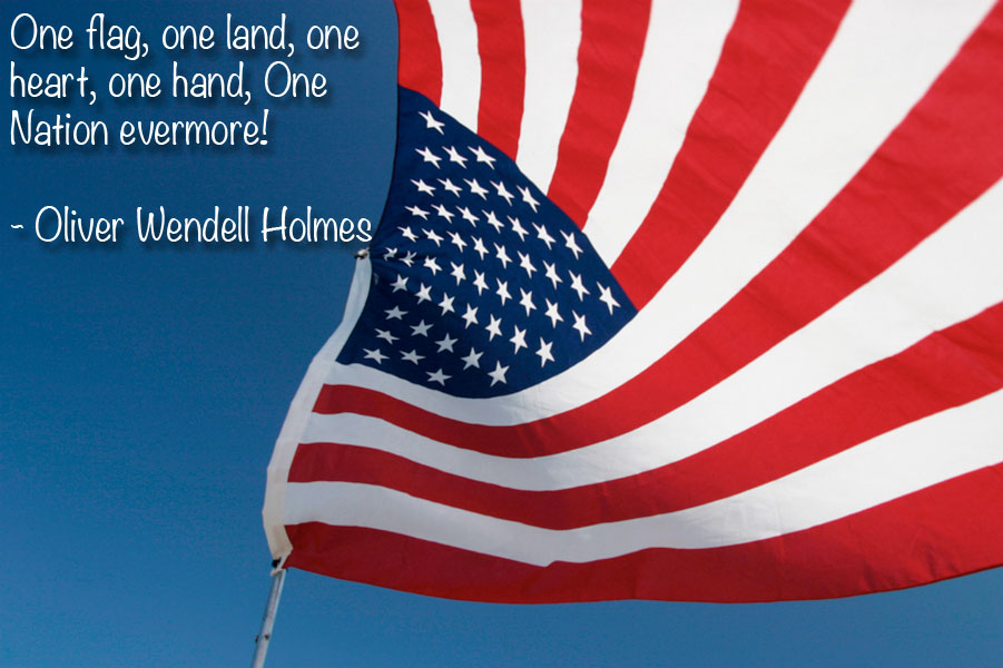 Happy 4th July Pictures of Flag Quotes