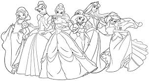coloring pages disney princesses