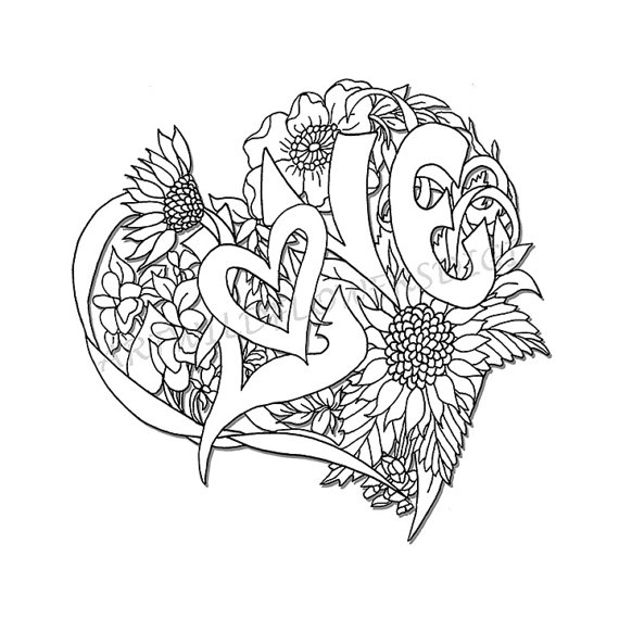 coloring pages for adults hearts