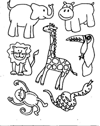 coloring pages of animals for preschoolers