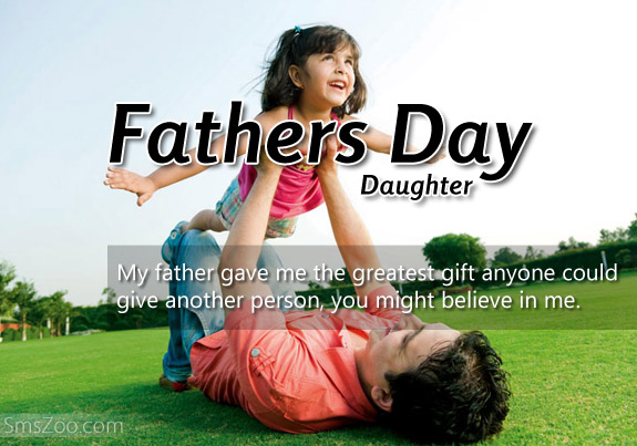 fathers day sms from daughter